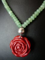 Adventurine & Sea Coral Necklace