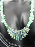 Adventurine & Sea Shell Necklace