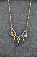 Amethyst, Lapis & Garnet Necklace