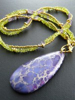 Amethyst, Peridot & Agate Necklace