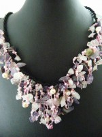 Amethyst, Rose Quartz & Pearl Necklace