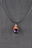 Amethyst Crystal & Garnet Necklace
