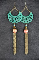 Attica Teal Gypsy Earrings