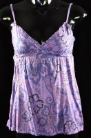 Floral Purple Babydoll Top