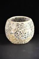 Gold Mosaic Votive Holder