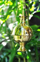 Large Brass Cone Incense Mobile